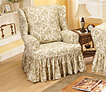 SureFit Chantal Floral Wing Chair Slipcover