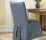 SureFit Cotton Duck Long Dining Chair Cover