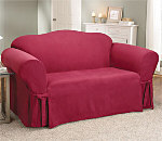 SureFit Soft Suede T-Cushion Slipcover
