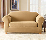 SureFit Stretch Pique Separate Seat Slipcover