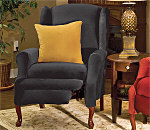 SureFit Stretch Pique Wing Recliner Slipcover