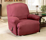 SureFit Stretch Suede Recliner Slipcover