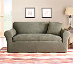 SureFit Stretch Suede Three Piece Slipcover