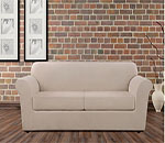 SureFit Ultimate Heavyweight Stretch Leather Individual 2 Cushion Couch Cover