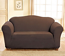 Sure Fit Stretch Suede Loveseat